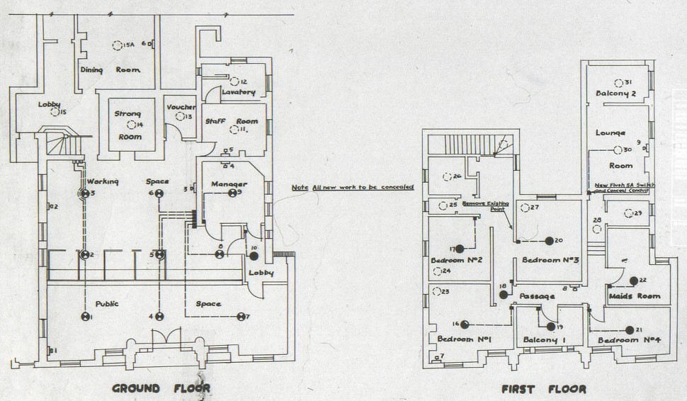 Plans of Commonwealth Bank premises at 259 Oxford Street, 1940Source: Commonwealth Bank Archives.